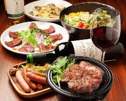 女性にも人気の肉料理を多数取り揃えております!