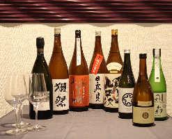日本各地の珍しい地酒やワインでおもてなし