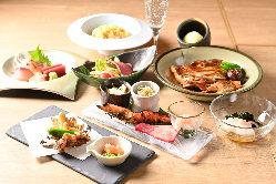 季節食材にこだわった宴会コース料理。