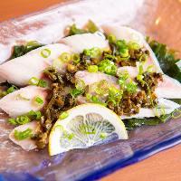 函館近海で採れた新鮮なお刺身もお楽しみ頂けます。