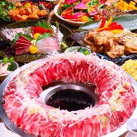 大人気の肉炊き鍋など様々な創作和食料理をご用意しております
