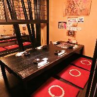落ち着いた雰囲気で、お寛ぎいただける完全個室お座敷をご用意!