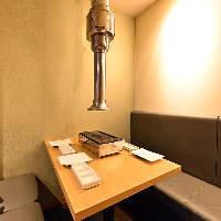 少人数様からご利用可能な和情緒漂う個室空間を完備!