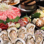 新鮮な牡蠣を絶品出汁でしゃぶしゃぶに!コースでご用意してます