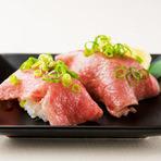元寿司屋勤務の店主が握る肉寿司は絶品!