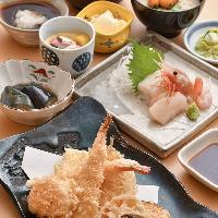 天ぷらのほか、御造りや季節の一品など様々なお料理を幅広く