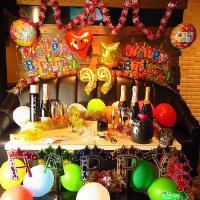 誕生日や記念日にお洒落な店内・個室を貸切って主役にサプライズ