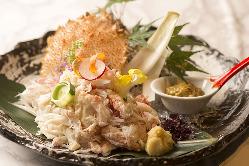 新鮮な魚料理の数々