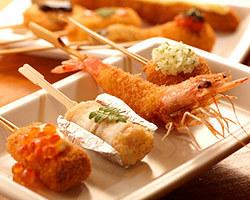 四季折々の旬の食材を使った 串カツをお楽しみ下さい