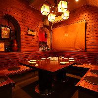 予約優先の人気席 店内奥の半個室!隠れテーブル