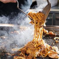 当店の焼そばは茹でたて麺を使うから食感が違う!もちもちです◎