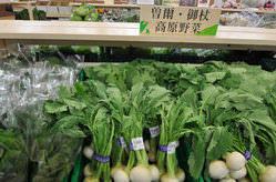近隣農家の方が毎日持ってくる新鮮野菜販売してます