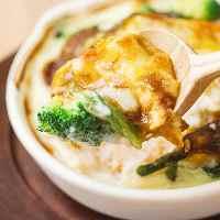 アツアツドリアには豆乳ホワイトソースがたっぷり!豆腐入りも♪