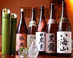 全国の銘酒を数多く取り揃えております。