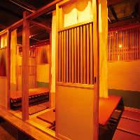小個室は3~6名用 しっぽり寛ぎたい時はこちらがオススメです