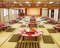 《4階 宴会場》 忘新年会のみご利用可能な宴会場。150名様まで