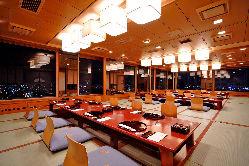 東南の角部屋【生駒】では 30~36名様までの個室宴会も可能