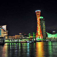 【神戸港の夜景】 地上100mビル最上階からお楽しみいだだけます
