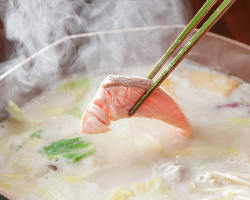 【お鍋もあります】 黄桜の酒粕を使ったお鍋は一年を通して人気