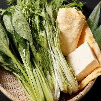 京水菜や九条ねぎを堪能『京野菜ちゃんこ鍋コース』もご用意