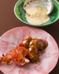 伊勢海老の深い旨味を堪能 海の幸の前菜