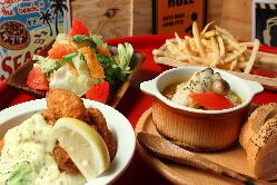 牡蠣フライなど牡蠣料理の種類が豊富!
