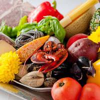 世界各地の厳選食材を使用!彩り豊かな旬を贅沢に詰め込みます