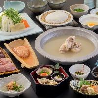 季節の素材たっぷりなお料理と自慢のスープの水炊き鍋をどうぞ!