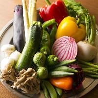 季節によって変わる新鮮な産直野菜を使用しております