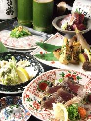 土佐名物かつおなど高知直送の郷土料理をお楽しみいただけます