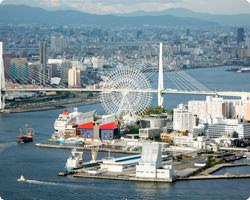 大阪市街が一望できます