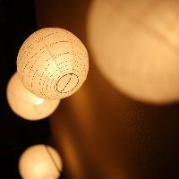 ●癒しの和空間 間接照明の光がほっこり落ち着きます