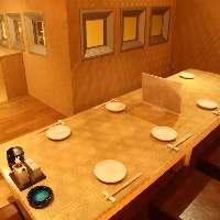 ●座敷個室 6名~8名様用。個室は24名様まで対応可能