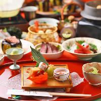 接待や顔合わせ、ご家族のお祝いなどには旬を楽しむ懐石料理を。