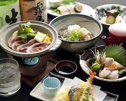 旬魚旬菜と鴨料理、〆はお蕎麦
