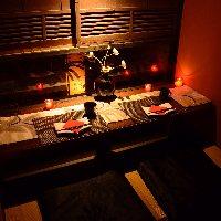 個室は全て表情が違い、 いろいろな京都を満喫できます