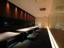 【半個室の掘り炬燵席】最大宴会25人様 大人数でもOK!