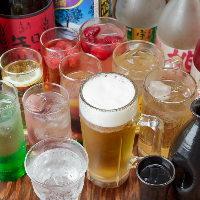 ドリンク飲み放題は単品注文のお客様にもお付けできます