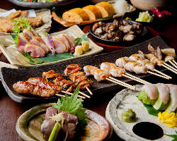 薩摩地鶏たたき・炙り焼き/焼鳥/チキン南蛮/鶏飯など鶏三昧