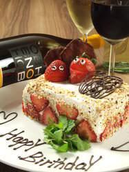 誕生日・記念日にはケーキ付のアニバーサリーコースもあり