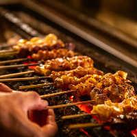 本格的な炭火焼き上げる串焼きは絶品!お好きなネタをどうぞ!