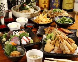 宴会コースは飲み放題付で2980円~ご用意。
