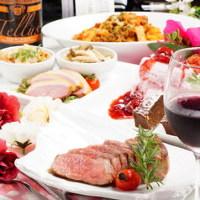 《3時間飲み放題付き》★お肉と旬菜の贅沢ディナーコース