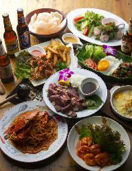 アジア各国の料理を手軽に楽しめる♪パーティーコースお料理2,000円~。