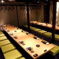 宴会に最適なお席を豊富にご完備しております※写真はイメージ。