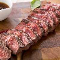 希少部位牛ミスジなどの肉料理をステーキでお楽しみください!