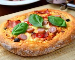 グラスフェットバターで作る自家製アメリカンピザ!カリふわ♪