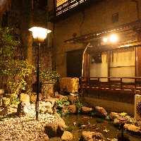 ●中庭が都会の雑踏を忘れさせてくれます。