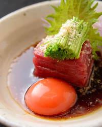 鯨ユッケ 素材にこだわりを持ち鯨肉の美味しさを追求した逸品