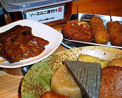 ソースの2度ずけ禁止の大阪名物串カツ&おでん!!